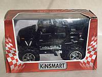 Металлическая машинка KT 5326 W, инерционная, 13 см. черный