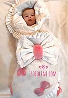 Конверт-одеяло для новорождённых меховое
