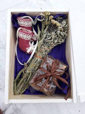 Новинка!Подарочные наборы в деревянном ящичке.