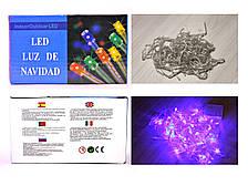 Гирлянда с прозрачным проводом 1 100LED (100 лампочек) 6.5 метров