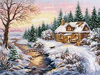 Набор для вышивки крестом Алиса 3-15 Зима. К вечеру