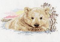 Набор для вышивки крестом Алиса 1-19 Северный медвежонок