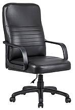 Кресло для руководителя Приус пластик к/з Мадрас/Титан/Тиффани/Велюр