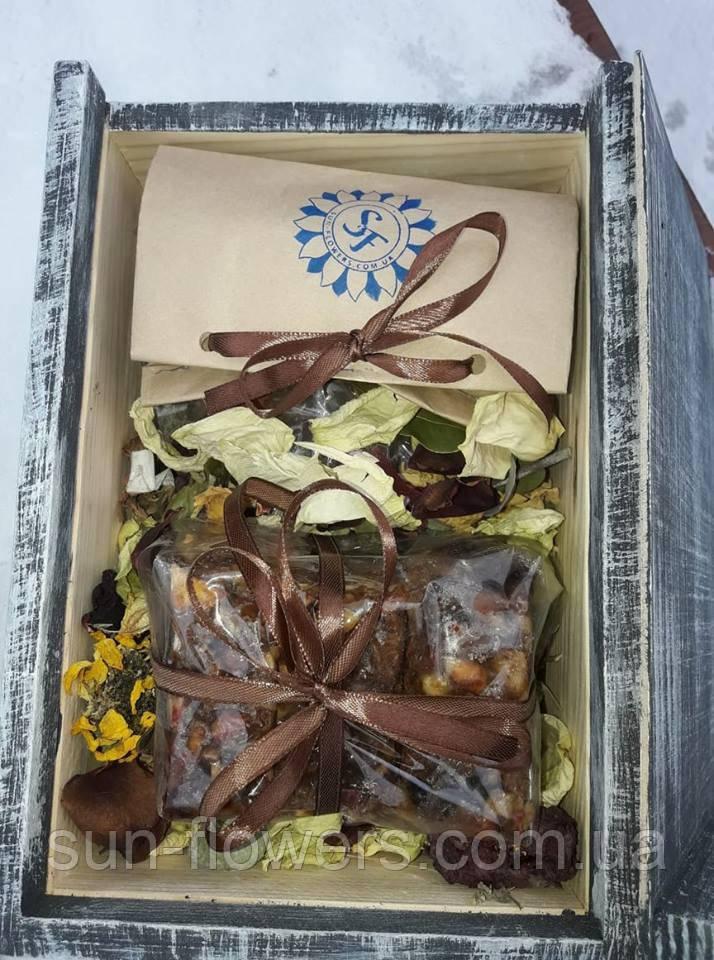 Подарочный набор (1) в деревянном ящике