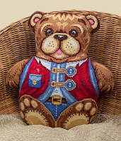 Набор для вышивки крестом Panna ПД-1604 Подушка Топтыгин