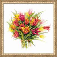 Набор для вышивки крестом Риолис 1293 Тюльпаны в вазе