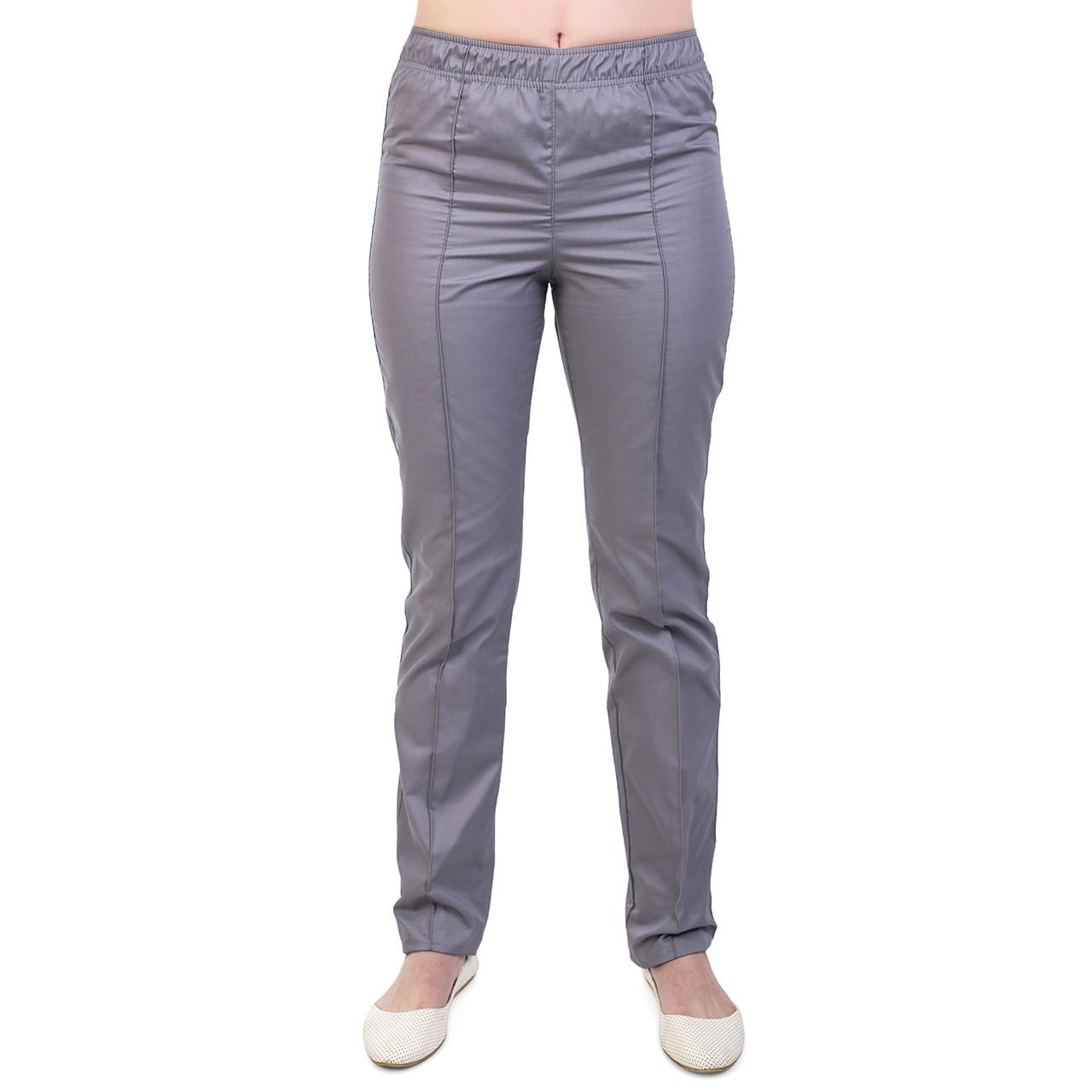 Медичні жіночі котонові штани сірі