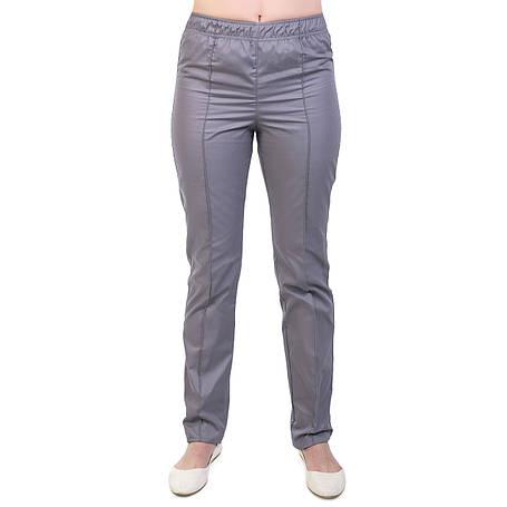 Медичні жіночі котонові штани сірі, фото 2