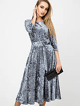 Женское врасклешенное велюровое платье (Трисса велюр leо), фото 2
