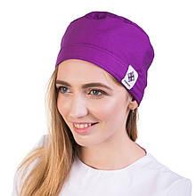 Медицинская ;женская шапочка фиолетовая