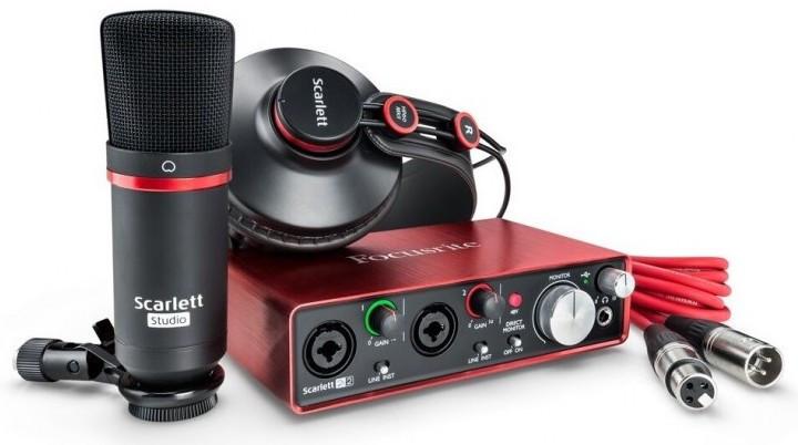 Комплект для звукозапису Focusrite Scarlett 2i2 Studio 3Gen