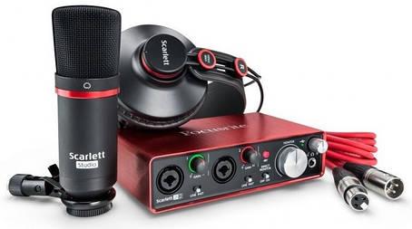 Комплект для звукозапису Focusrite Scarlett 2i2 Studio 3Gen, фото 2