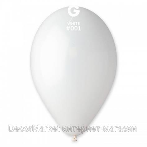 Шарик воздушный 12 дюймов (30 см) пастель БЕЛЫЙ, фото 2
