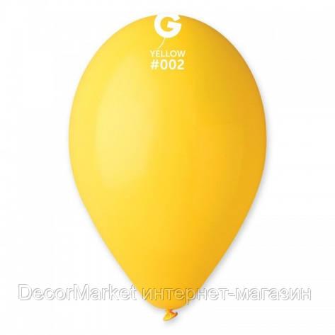 Шарик воздушный 12 дюймов (30 см) пастель ЖЕЛТЫЙ, фото 2