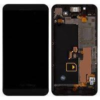 Blackberry Z10  дисплей в зборі з тачскріном модуль з рамкою чорний (версія 4G)