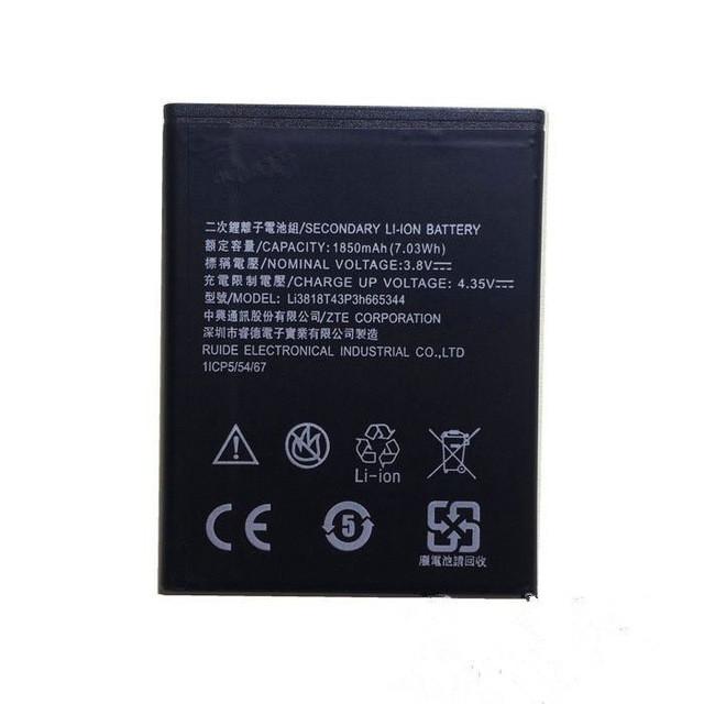 Аккумуляторная батарея Li3818T43P3h665344 для мобильного телефона ZTE Blade GF3