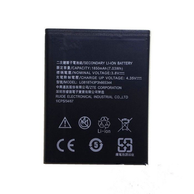 Акумуляторна батарея Li3818T43P3h665344 для мобільного телефону ZTE Blade GF3