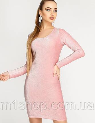 Женское нарядное платье-футляр из люрекса (Виола люрекс leо), фото 2
