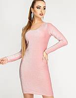 Женское нарядное платье-футляр из люрекса (Виола люрекс leо)