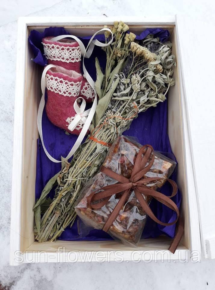 Подарунковий набір (2) в дерев'яному ящику