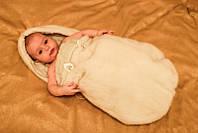 Конверт из меха норки для новорожденных, фото 1