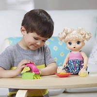 Интерактивная кукла Аливе блондинка Baby Alive Super Snacks Snackin´ Noodles Baby