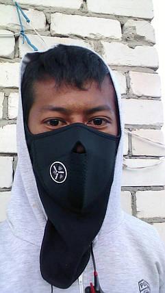 Зимняя гонолыжная вело-мото маска на лицо балаклава флис, фото 2