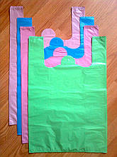Пакет-майка 38*57 см. без печати, плотные пакеты без логотипа, без рисунка купить прочные кульки белые Киев