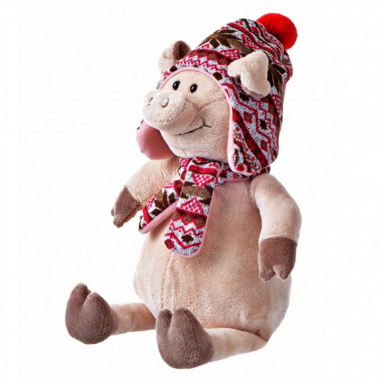 Свинка в шапке, 38 см, «Same Toy» (THT720)
