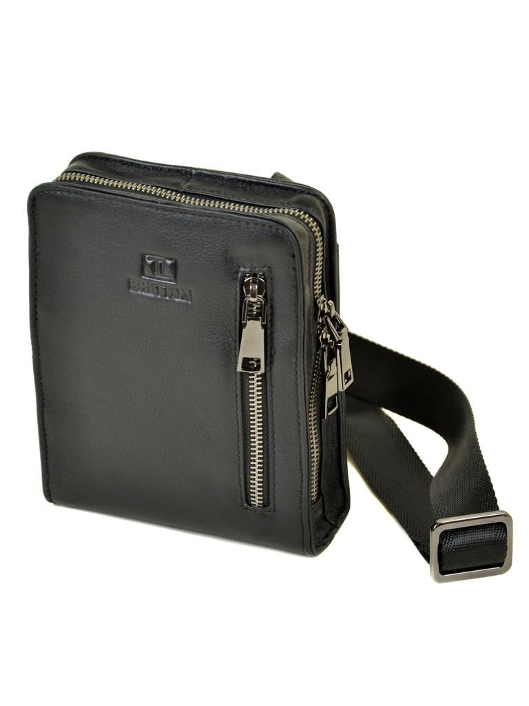 Мужская сумка планшет через плечо кожаный BRETTON BE 2000-10 black