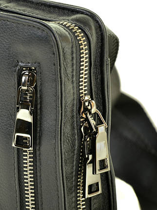 Мужская сумка планшет через плечо кожаный BRETTON BE 2000-10 black, фото 2