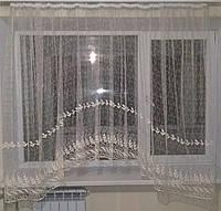 Короткая гардина  аркой 4 метра для кухни.  Подарок для дома и уюта