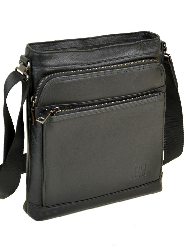 Мужская сумка планшет через плечо кожаный BRETTON BE 5446-3 black