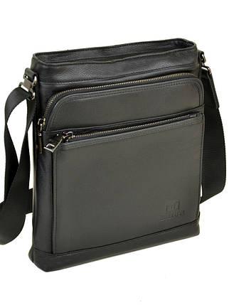 Мужская сумка планшет через плечо кожаный BRETTON BE 5446-3 black, фото 2