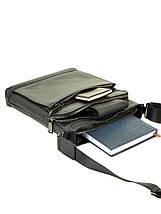 Мужская сумка планшет через плечо кожаный BRETTON BE 5446-3 black, фото 3