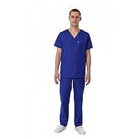 Мужской Медицинский костюм Мадрид синий электрик №12669