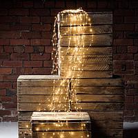 """Гирлянда """"Конский хвост"""" 10 нитей по 2 м, тёплый белый 200 LED, постоянное свечение"""