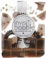 Оригинал! Invisibobble Резинка-браслет для волос с ароматом шоколада Crazy for chocolate (цена за 3 шт.)