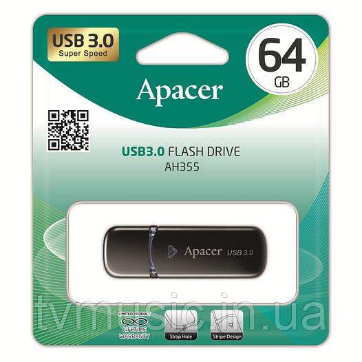 USB флешка Apacer AH355 64GB Black (AP64GAH355B-1)