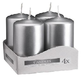 Свеча серебрянная 4х6 см 4шт