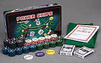 Покерный набор 300 фишек, настольная игра покер, Poker Chips, Подарок для шефа Техасский набор для покер