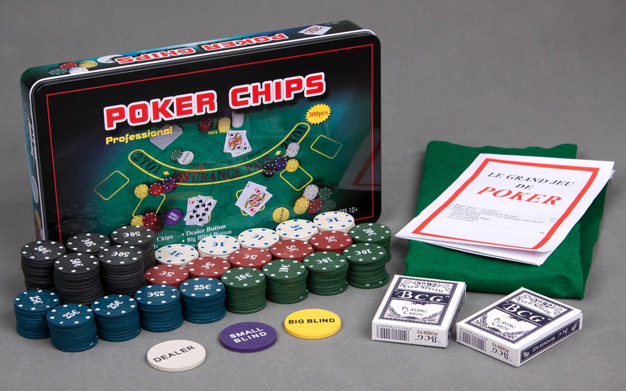 Покерный набор 300 фишек, настольная игра покер, Poker Chips, Подарок для шефа Техасский набор для покер - Моток в Одессе