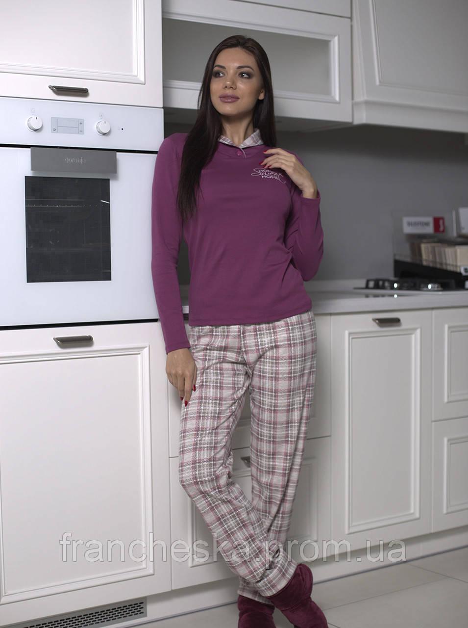 814d1c15ceec9 Женская теплая пижама из коллекции