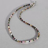 Турмалин разноцветный, бусы шнурок, 539БСТ