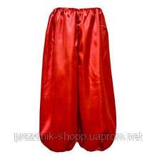 Шаровары красные, рост 110см.