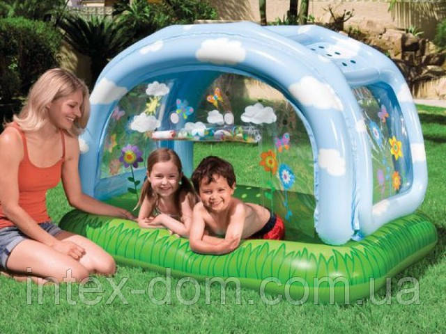 Надувной детский бассейн Intex 57406 (163х112х102см)