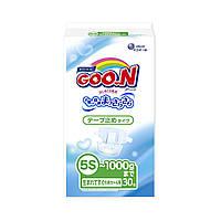 Подгузники GOO.N для маловесных новорожденных до 1 кг (р. SSSSS, на липучках, унисекс, 30 шт.) ТМ Goo.N 753863