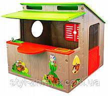 Садовий дитячий будиночок з кухнею. Дитяча альтанка
