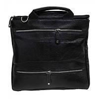 Мужская кожаная сумка 1422 Black flotar. Сумка через плечо. Сумка мужская натуральная кожа.