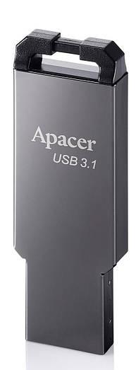 USB флешка Apacer AH360 16GB Metal Black (AP16GAH360A-1)
